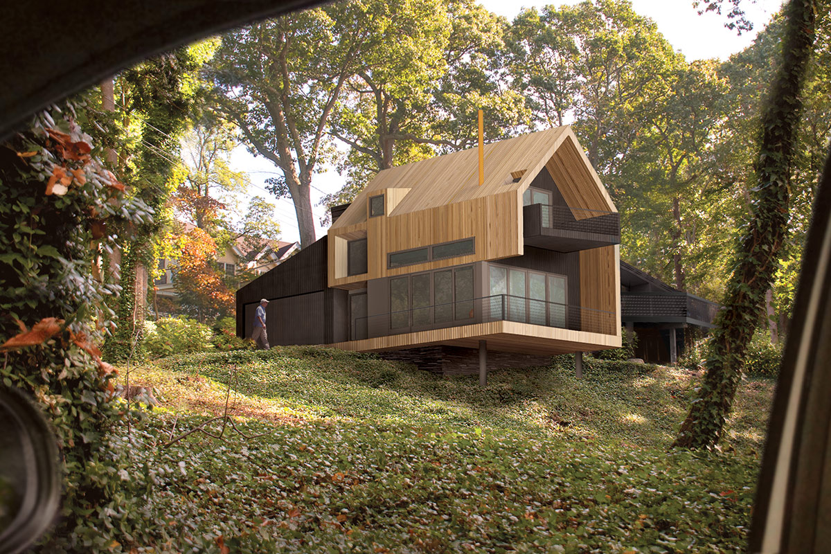 House Design Com The Up Studio : Uphill House