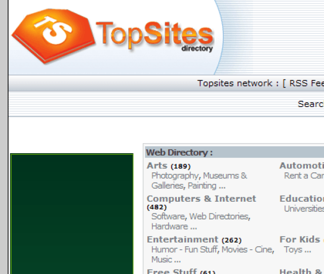Topsites Sublime Directory Search Engine