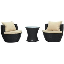 3 piece outdoor table and chairs your zone flip chair mint rattan patio furniture the urban backyard small space