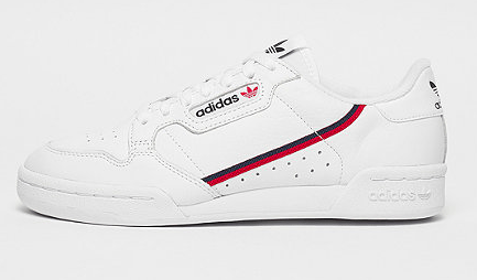 ADIDAS Continental 80s white red blue