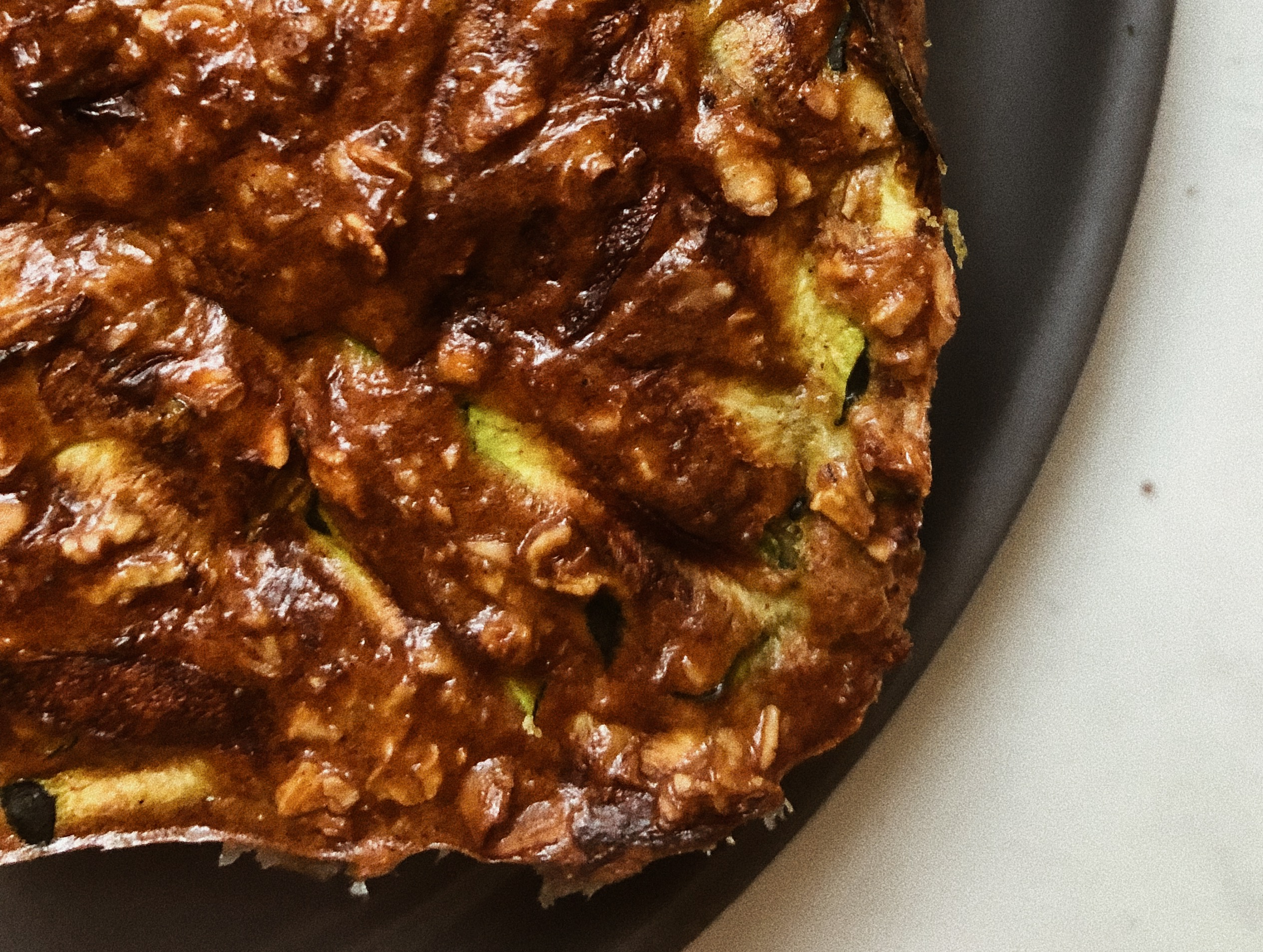Baked Oatmeal with Turmeric, Coconut and Zucchini