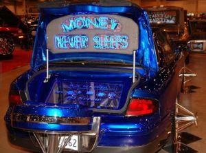 My fav at the car show.  Money Never Sleeps!!