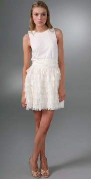Alice + Olivia Tank Dress With Full Skirt