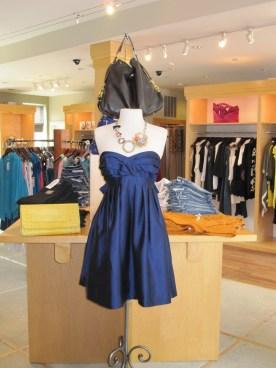 Shoshanna Bow Back Strapless Dress