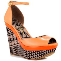 PRINT| Jessica Simpson Keira – Antique Rose Silk Wedges, $80, available at heels.com