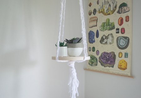 DIY, diy, hanging shelf, shelf, display, materials, home decor, decor