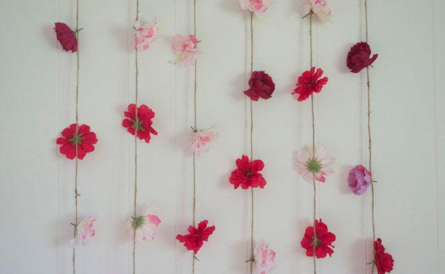 Flower Wall Hanging Diy