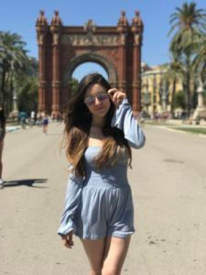 Arc de Triomf, triomphal arch, Barcelona, Spain, square, travel, Europe, palm trees, architecture, fashion