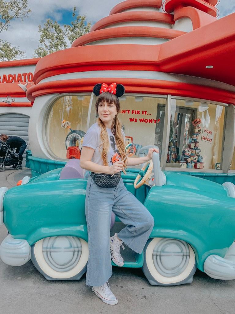 Disneyland, Fantasyland, California, Mickey's Toontown, gas station, Instagram, Disneyland Instagram photo guide, photo guide, Disney, travel blogger, fashion blogger, travel, fashion
