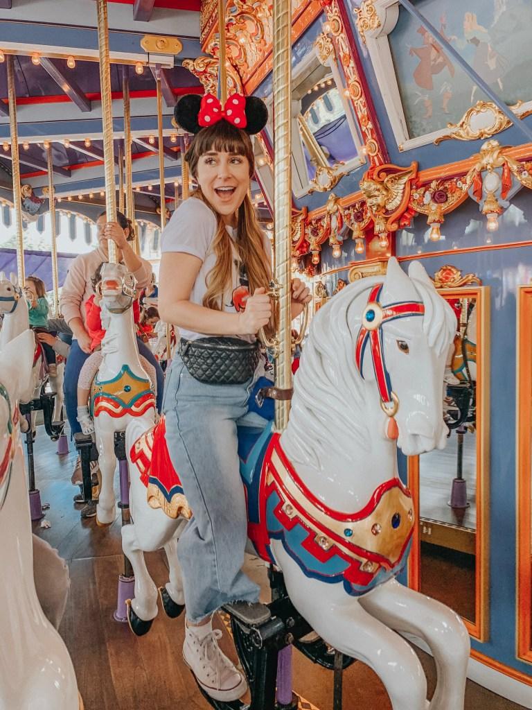 Disneyland, Fantasyland, California, King Arthur's Carousel, carousel, Instagram, Disneyland Instagram photo guide, photo guide, Disney, travel blogger, fashion blogger, travel, fashion