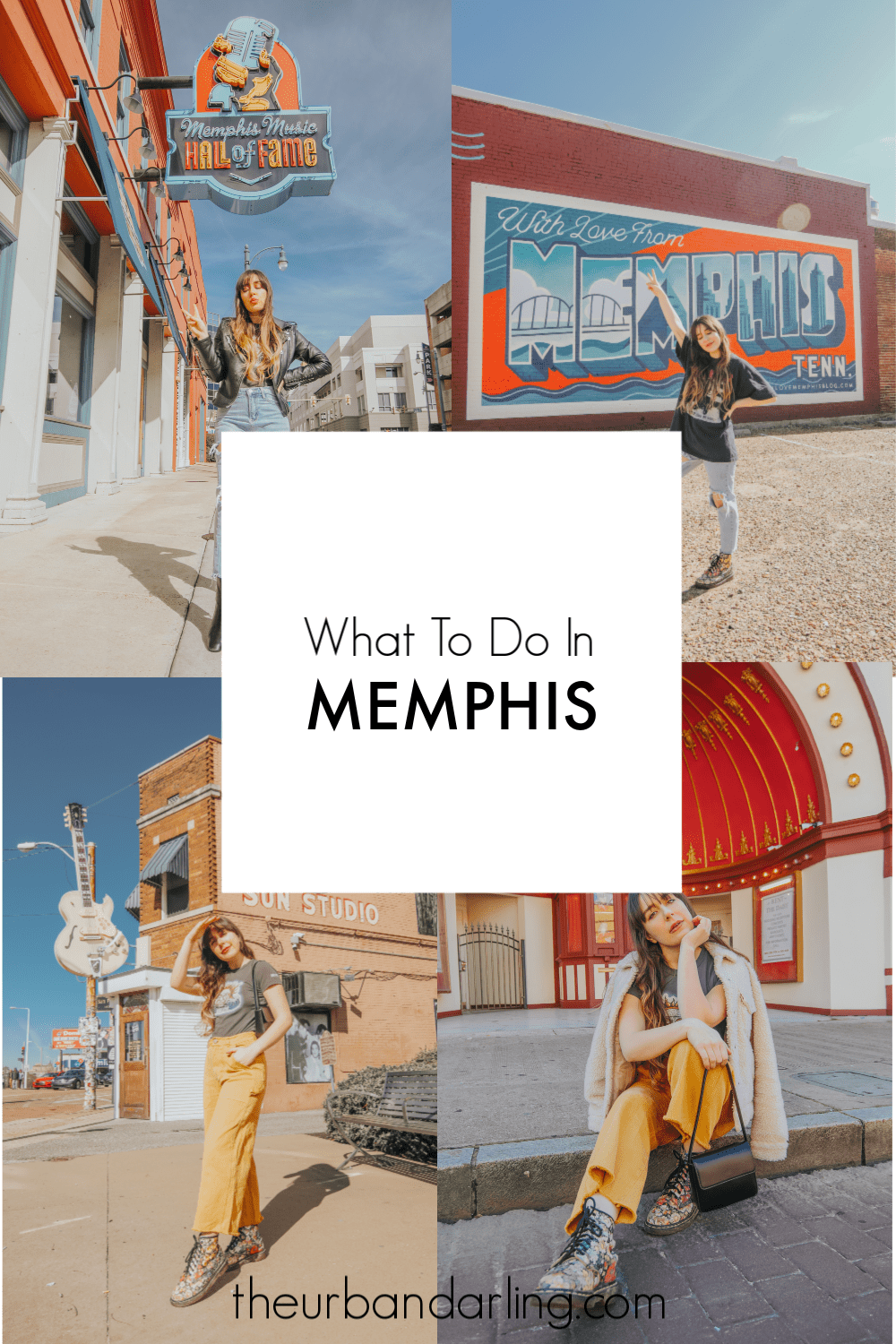Sun Studio, Beale Street, New Daisy Theatre, Old Daisy Theatre, South Main Arts District, With Love From Memphis Sign, Graceland, National Civil Rights Museum, Arcade Restaurant, Memphis Music Hall of Fame, Edge Alley, Memphis, Tennessee, Memphis Travel Guide, travel guide, The Best Instagram Spots in Memphis, travel, The Urban Darling, fashion, boho fashion, bohemian.