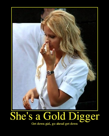 how to be a male gold digger
