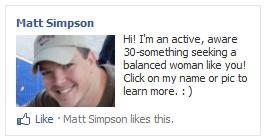 Matt Simpson's Ad Campaign to find love