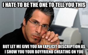men cheating