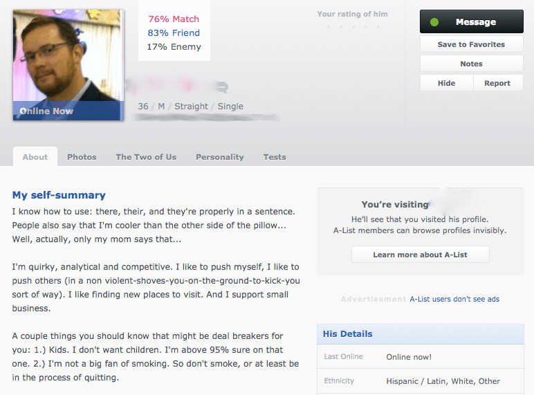 How to write an okcupid profile