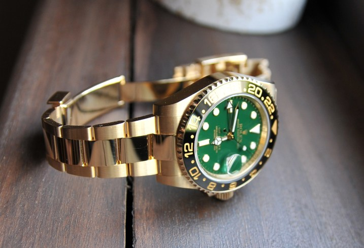 Rolex-GMT-Master-II1-rolex-gold-watch-green-dial