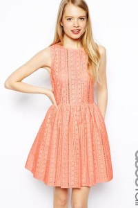 ASOS dress in broderie