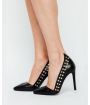 Pantofi stiletto cu detaliu la spate-260×320