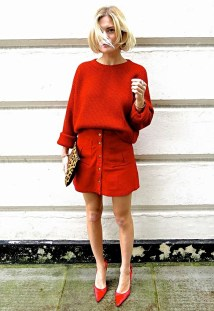 red monochromatic look
