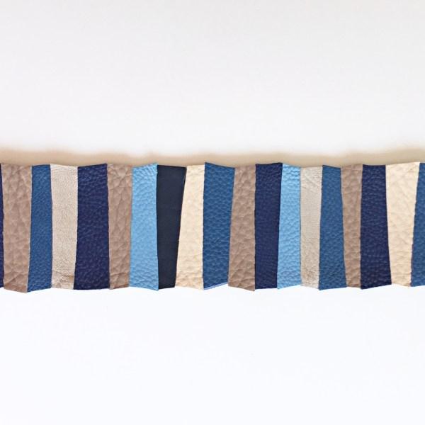 accesoriu detasabil piele stripes creamy blue mydreambag sashaccessories
