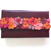 geanta bordo piele mydreambag accesoriu detasabil flori rose sashaccessories