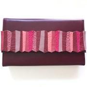 geanta piele bordo mydreambag accesoriu detasabil dark rose sashaccessories