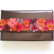 geanta piele bronz mydreambag accesoriu detasabil flori rose sashaccessories