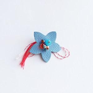 brosa-martisor-floare-piele-bleo-sashaccessories