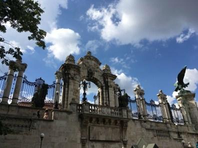 poarta de intrare in Castelul Buda Budapesta