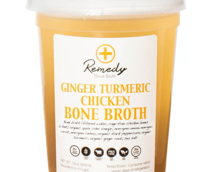 Ginger Turmeric Chicken Bone Broth –  – The Urban Juicer