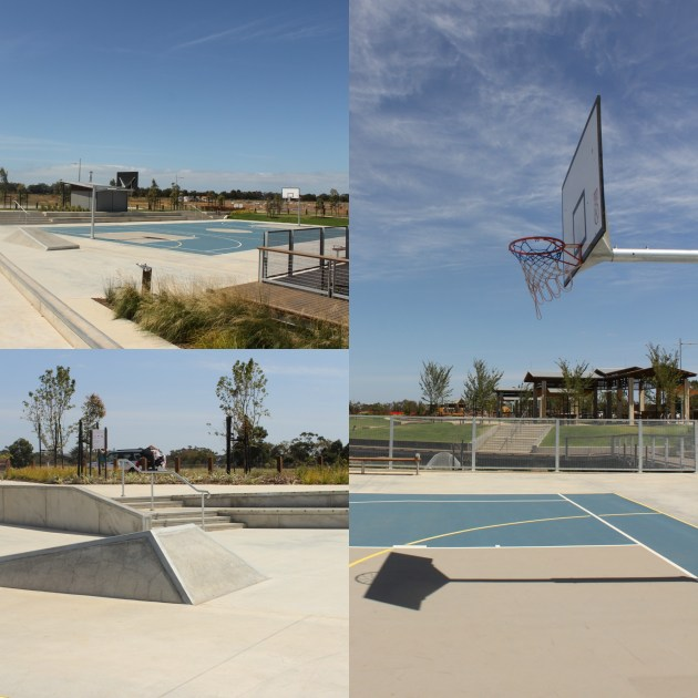 Water park Werribee Riverwalk basketball courts