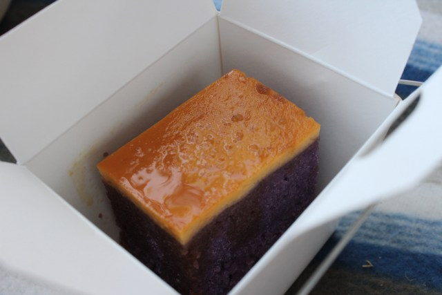 Leche ube cake The Little Jeepney Melbourne