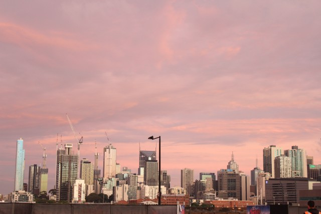 Melbourne city skyline best view Drive in movies Docklands