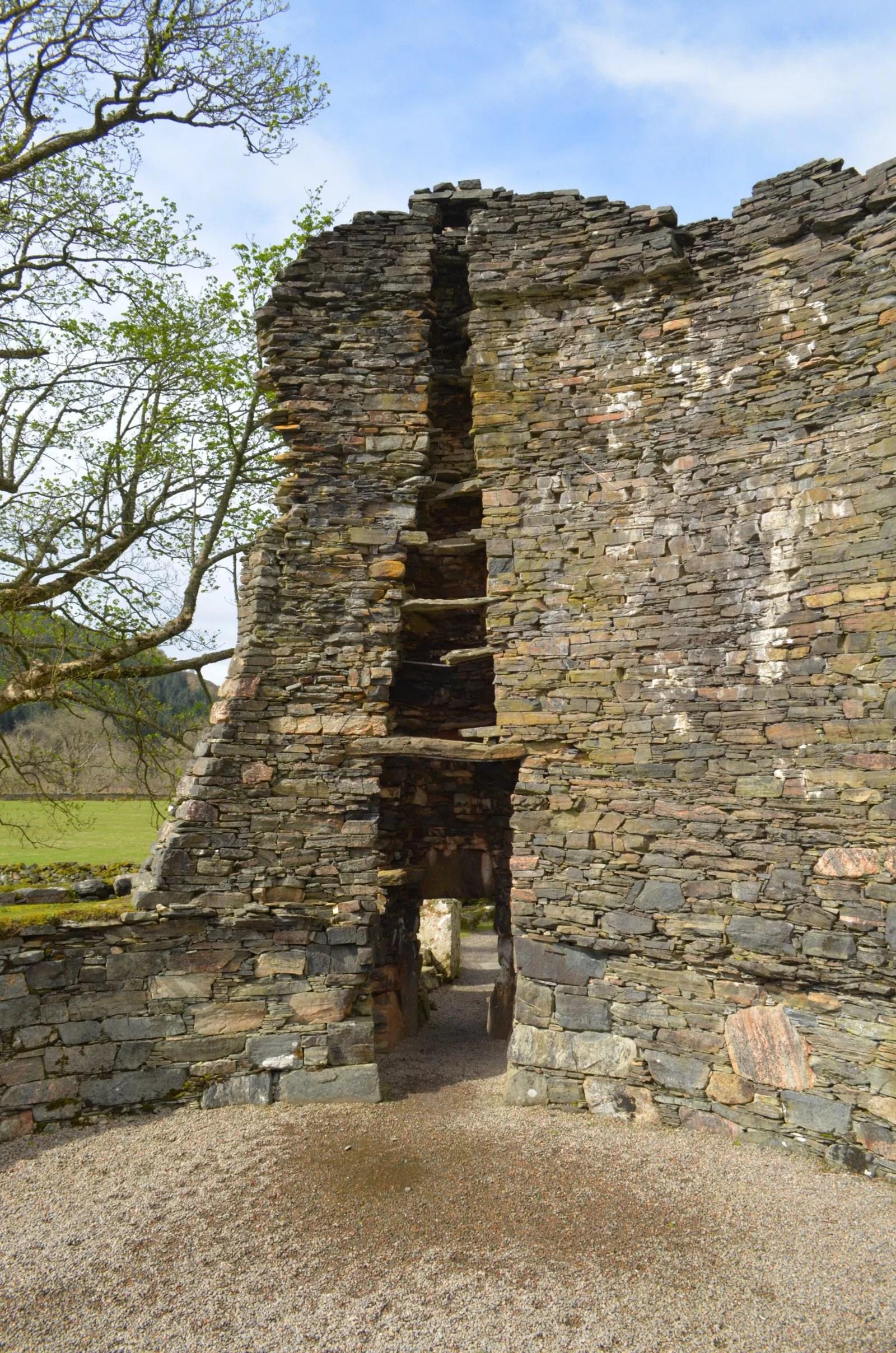 Dun Telve broch in Glenelg Scotland