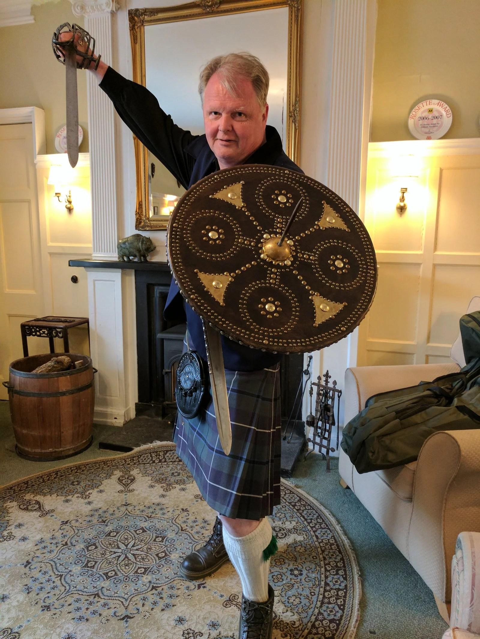 Scottish weaponry Glen Ord House Hotel