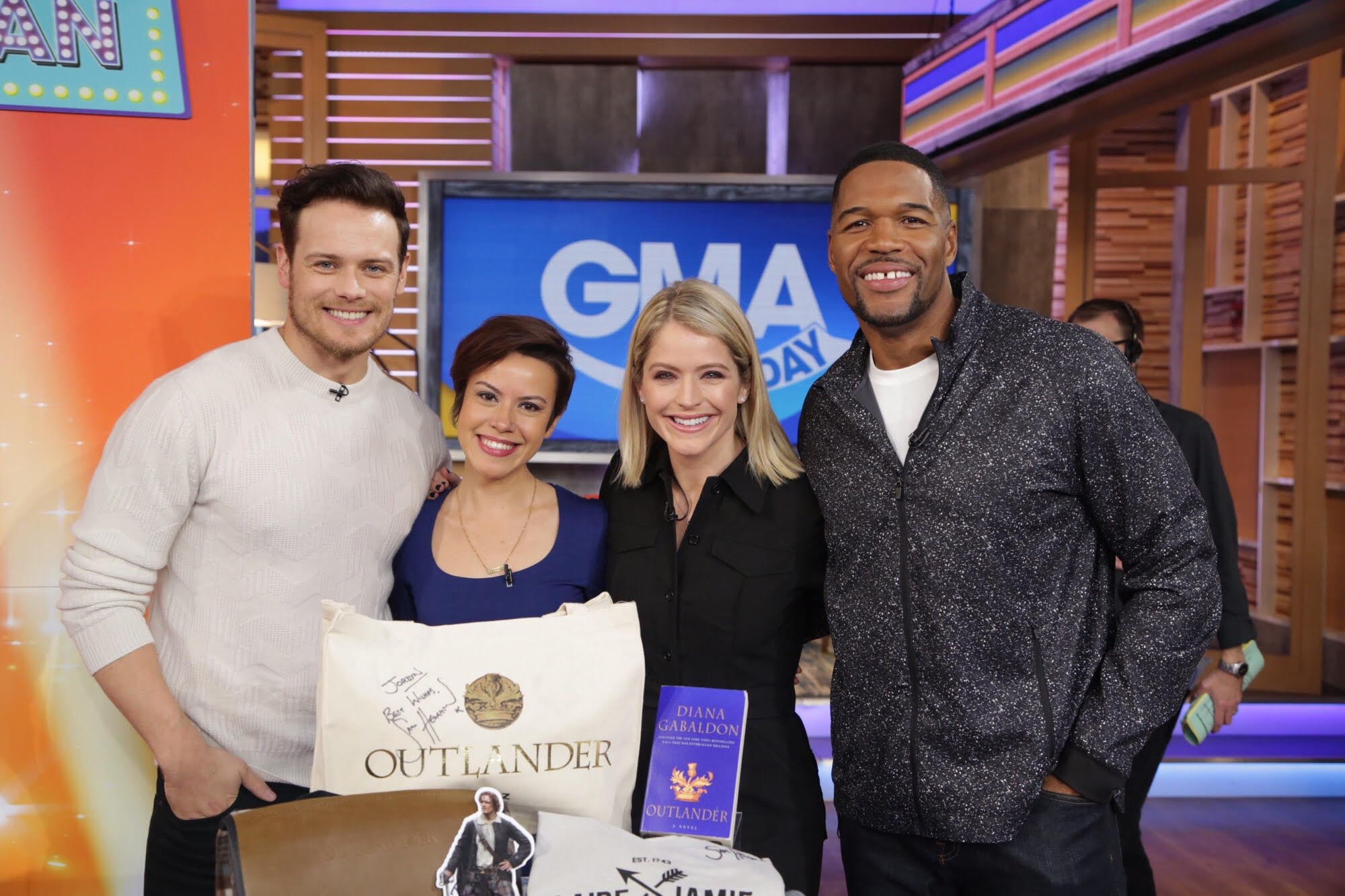 GMA Day with Michael Strahan Sarah Haines Sam Heughan