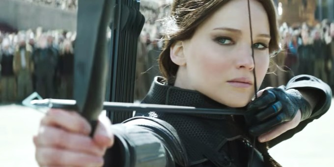 This will be the last time we'll see Katniss and her bow. (Jennifer Lawrence)