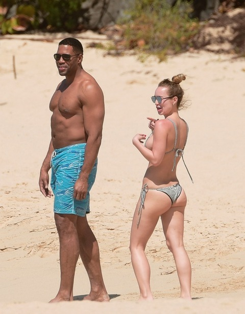 *EXCLUSIVE* Michael Strahan and girlfriend Kayla Quick cool off in the water