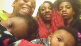 Lyles with her children