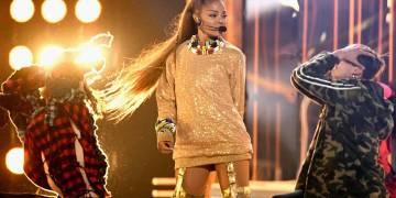 Janet Jackson performing at the 2018 Billboard Music Awards