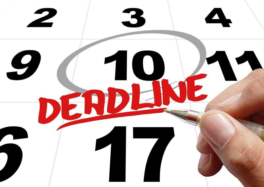 secured credit cards deadlines