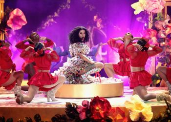 "Cardi B performs ""I Like It Like That"" during the 2018 American Music Awards. Photo credit: Popsugar.com"