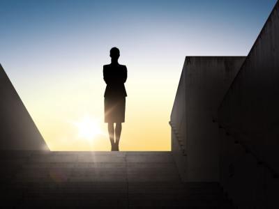 female leader silhouette