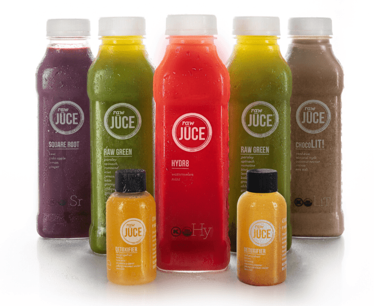 raw juce bottles