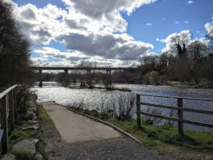 On the banks of the River Wye in Hay-on-Wye