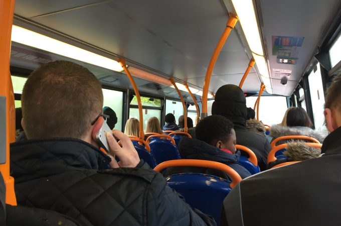 I took the bus this morning (why walking is miles better!)