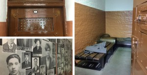 A selection of pictures from inside the cells, the door and the mugshots of the criminals