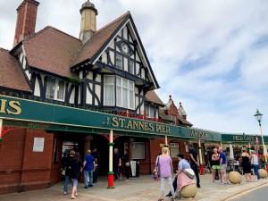 The Lytham St Annes pier entrance