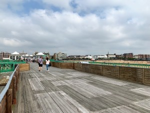 Looking back to the arcades along the Lytham St Annes Pier