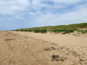 Just sandy beaches and no people on the other side of Lytham St Annes beach